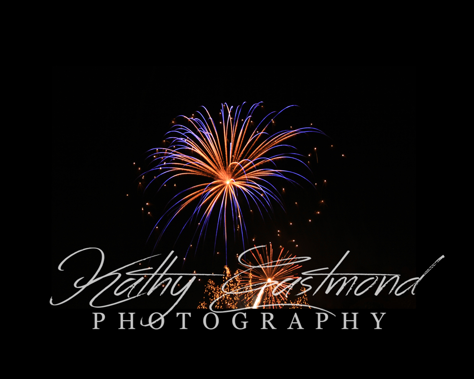 """Fireworks"" 5x7 print mounted on a black 8x10 acid-free matte for $20 with free shipping within the U.S.  (Kathy Eastmond's signature will replace the copyright  logo )"