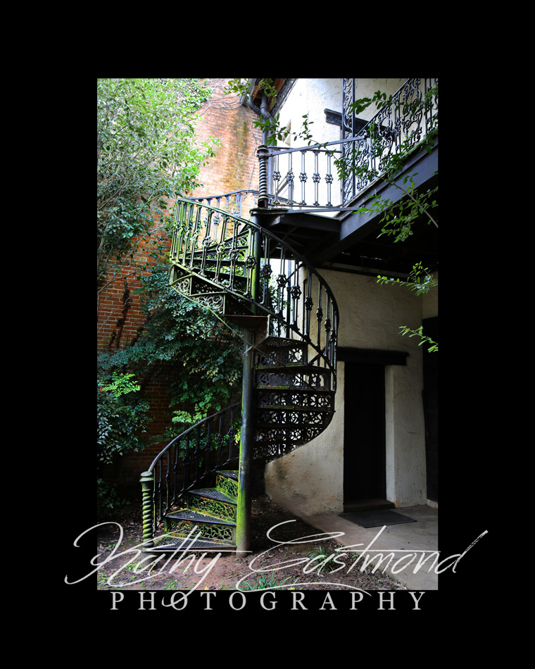 """Staircase"" 5x7 print mounted on a black 8x10 acid-free matte for $20 with free shipping within the U.S.  (Kathy Eastmond's signature will replace the copyright  logo )"