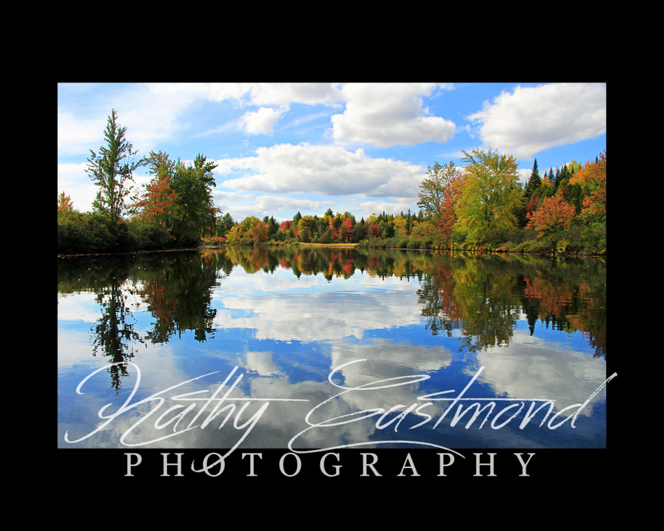 """Raquette Lake"" 5x7 print mounted on a black 8x10 acid-free matte for $20 with free shipping within the U.S.  (Kathy Eastmond's signature will replace the copyright  logo )"