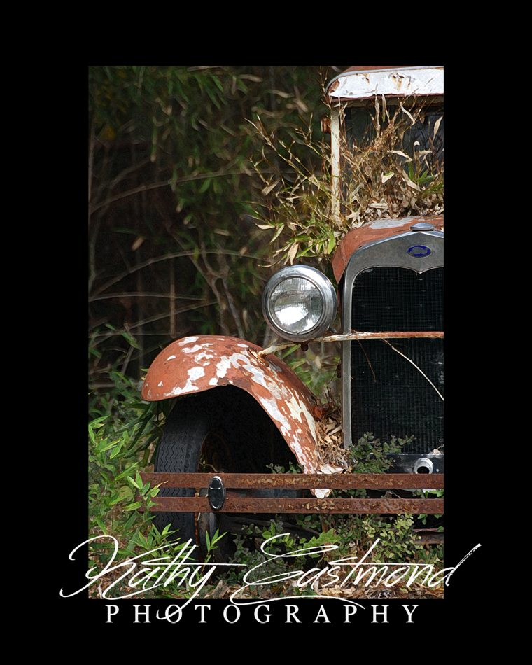 """Model A"" 5x7 print mounted on a black 8x10 acid-free matte for $20 with free shipping within the U.S.  (Kathy Eastmond's signature will replace the copyright logo)"