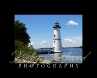 """Rock Island Lighthouse"" 5x7 print mounted on a black 8x10 acid-free matte for $20 with free shipping within the U.S.  (Kathy Eastmond's signature will replace the copyright  logo )"