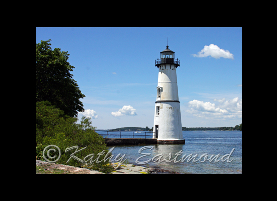 """Rock Island Lighthouse"" Print by Kathy Eastmond"